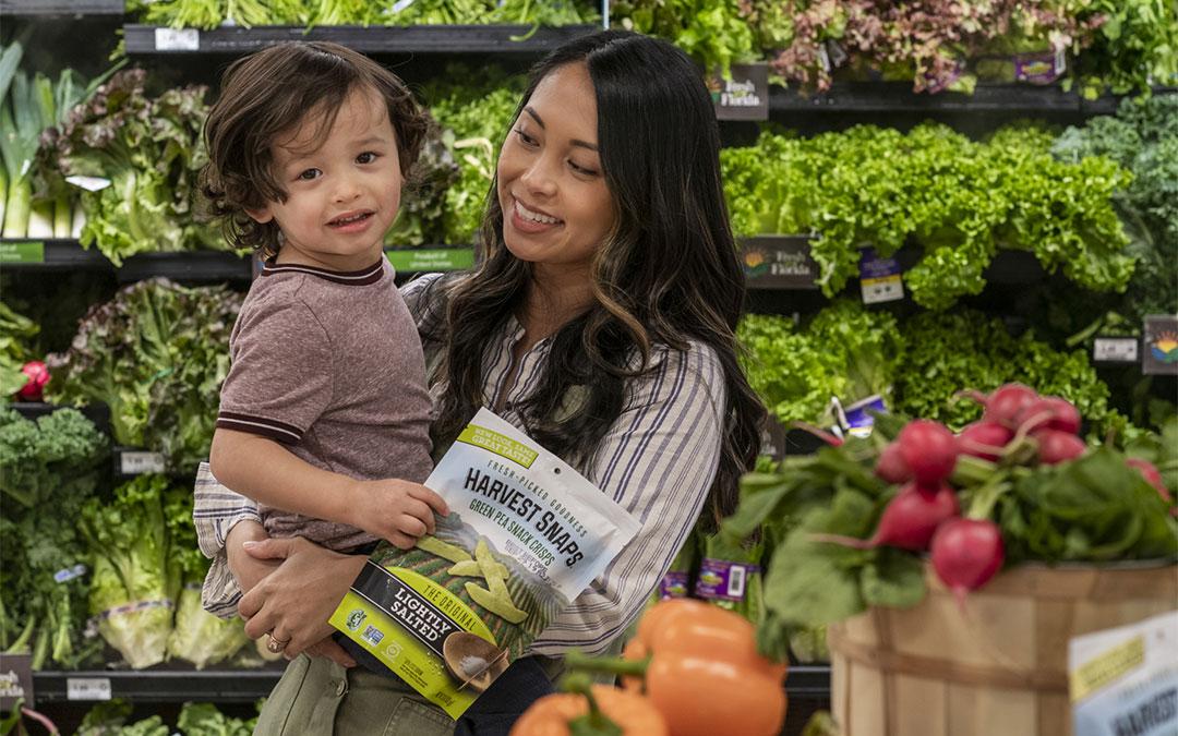 A Fresh Find: Harvest Snaps are in the Produce Section!