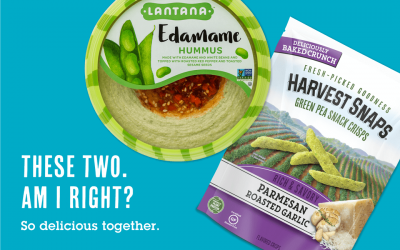 The Ultimate Veggie Combo is Here! Harvest Snaps Crisps + Lantana Hummus
